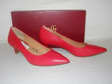 Sofft New Womens Al Tessa Red Leather Heels 7 M Shoes