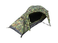 One Man WOODLAND CAMO TENT - 1 Berth Military Army Camouflage Camping Kit