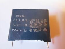 25 PIECES -  PA105 OKAYA NOISE SUPPRESSION CAPACITORS 1uf 1.0 uf 275VAC