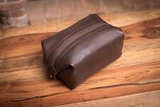 Polo Ralph Lauren Brown Full Grain Leather Wash Bag BNWT RRP £110