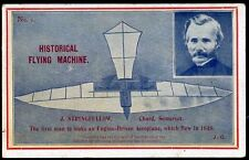 1912 John Stringfellow Historical Flying Machine Postcard No. 1