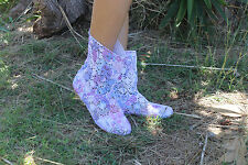 Summer crochet ankle boots, Floral Size 8