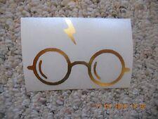 Harry Potter glasses & lightning bolt chrome vinyl decal