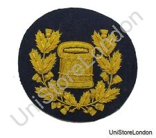 Badge Drum Major Gold on Navy Blue Pipe Band R1219