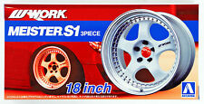 Aoshima 52990 Tuned Parts 21 1/24 Work Maister S1 3Peace 18inch Tire & Wheel Set