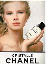 Publicité Advertising 1988 Eau de Toilette Cristalle par Chanel