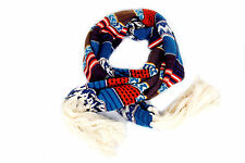 Bohemian Style Very Long Warm Winter Knitted Scarf with Long Chunky Fringes