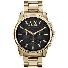 NEW ARMANI EXCHANGE MENS BANKS GOLD PVD CHRONO WATCH - AX2095 - RRP £195