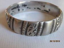 Ancien bracelet jonc berbère en argent massif non poinçonné (testé)