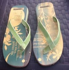 NOD Athletic Green Leather Flip Flops, Size 39
