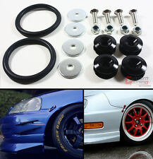 Black JDM Quick Release Fasteners For Car Bumpers Trunk Fender Hatch Lids Kit