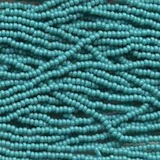 Czech Seed Beads 6/0 Opaque Green Turquoise 31731 (6 strand hank) Glass Round