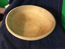 Vintage Primitive Large Munising 2nd, Round Wood Dough Bowl , Birds Eye Maple,