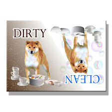 SHIBA INU Clean Dirty DISHWASHER MAGNET No 1 New DOG