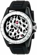 JUICY COUTURE Womens 1901160 Sport Analog Display Quartz Black Watch NEW IN BOX