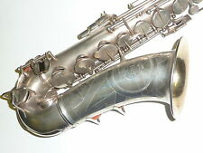 Stunning Vintage B & H 32 Alto Sax Rolled tone holes Silver plated