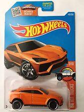 Hot Wheels LAMBORGHINI URUS - Orange 2016 HW Hot Trucks 2/10 exotic sports suv