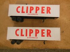 HO SCHNEIDER LOT OF 2 CLIPPER EXXPRESS 40' TRAILER VANS
