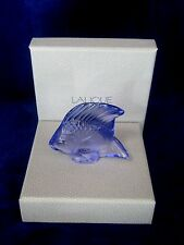 LALIQUE #3003000 LIGHT PURPLE FISH CRYSTAL BRAND NIB FRENCH WATER PARIS SAVE$ FS