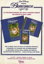 X7166 Biancaneve e i Sette Nani - Colonna Sonora - Pubblicità 1992 - Advertising