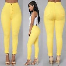 Sexy Fashion Women High Waisted Jeans Soft Skinny Stretchy Pants Slim Jeggings