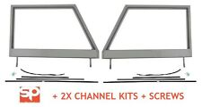 Land Rover Series 2 2a Door Tops Frames PAIR NEW UNGLAZED + 2 CHANNEL KITS