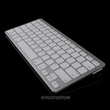 Silver Slim Wireless Bluetooth Keyboard for Apple iPhone iPad 2 3 4 Mac Tab PC