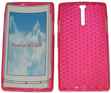 For Sony Xperia S LT26i LT26 Pattern Soft Gel Case Protector Cover Pink New UK