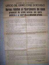 MANIFESTO DECREE FEBB.1944 NORME RELATIVE  RISARCIMENTO DEI DANNI (b18-19)