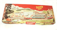 TECHNOFIX 301  COUNTRY TOUR METAL WIND UP PLAY SET W/ 3 CARS AND ORIGINAL BOX!
