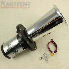 CHROME AHOOGA ANTIQUE VINTAGE STYLE 12 VOLT OLD FASHION CAR HORN HOT ROD KLAXON