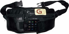 Leather waist pouch large waist bag leather bag Fanny pack sports bag 7 pockets+