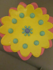 NEW SEARS GARDEN GROVE RESIN SUN FLOWER BATHROOM SOAP DISH Pink Yellow Blue