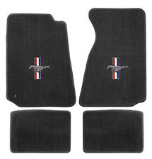 NEW! 1994-2004 Ford Mustang Grey Floor mats with Logo Set of 4 Carpet RWB Logo