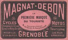Y7744 Cycles & Motos MAGNAT-DEBON - Pubblicità d'epoca - 1914 Old advertising
