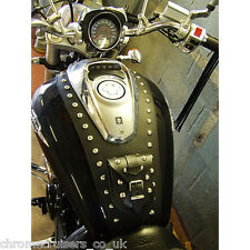 SUZUKI M800 INTRUDER - LEATHER TANK CHAP / PANEL / BRA / PAD / COVER / BIB