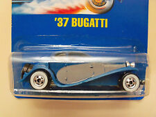 1990 HOT WHEELS BLUE CARD / SPEED POINTS #28 NEW PAINT STYLE '37 BUGATTI DIECAST
