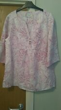 Bnwot Laura Ashley Loose fit 100%linen weekend top,uk16, Sale!!