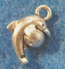 10Pcs. Tibetan Silver DOLPHIN Jumping BALL Charms Earring Drops Pendants OT69