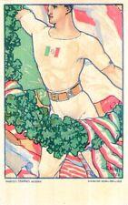 Riproduzione Cartolina Sport 1923 Concorso Ginnastico Internazionale Firenze