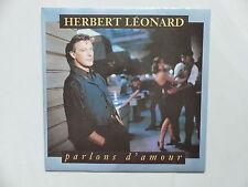 45 tours HERBERT LEONARD Parlons d'amour , reste un ange 9031-75979-7
