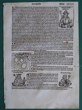 1493 Schedel,1st Edition,lg.German Incunabula,Natural Catastrophes,Large Hail &