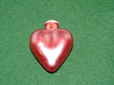 Vintage Old World Pink Heart Glass Christmas Light Cover