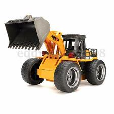 6 Channels 1/14 Radio Controlled RC Bulldozer Front Loader Construction Digger