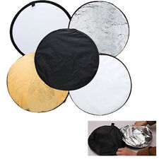 60cm 5 in 1 Studio Photo Photography Multi Collapsible round Light Reflector oz