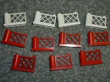 LEGO 3186 3187 gates 1x4x2 red and white as shown - quantity of 11