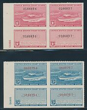 "#RVB1-RVB2 PLATE # PAIRS OG NH ""BOATING STAMPS"" BR4550"