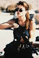 LINDA HAMILTON TERMINATOR 2 VEST COLOR 24X36 POSTER LOADING RIFLE COOL GLASSES