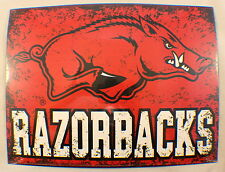 Arkansas Razorbacks Ncaa Distressed Metal Sign Wall Plaque New