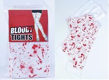 White Bloody Tights Halloween Zombie Horror Fancy Dress Costume Accessory